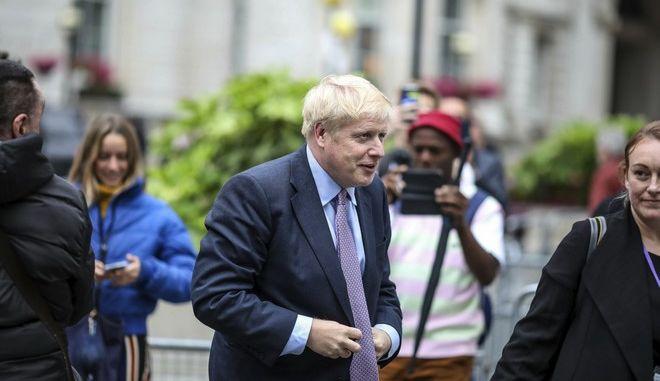 Ο υποψήφιος για την ηγεσία των Συντηρητικών Μπόρις Τζόνσον στο Λονδίνο