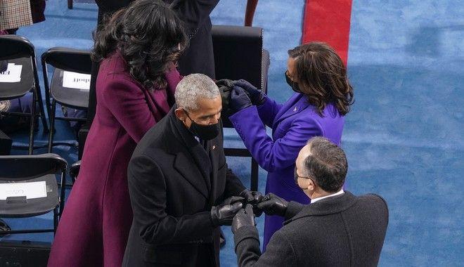 Η συνάντηση της Μισέλ Ομπάμα με την Κάμαλα Χάρις