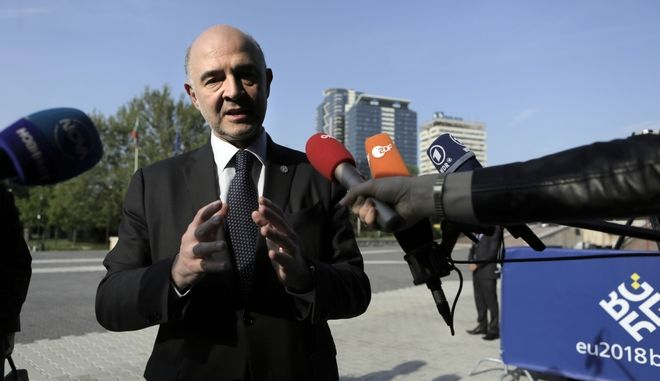 O Ευρωπαίος Επίτροπος Οικονομικών Υποθέσεων Pierre Moscovici