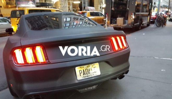 Θεσσαλονικιός με τη Mustang του και PAOKLE πινακίδα στο Νιου Τζέρσεϊ