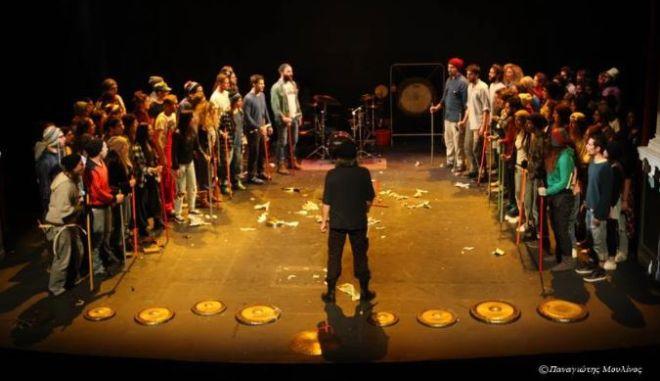 Σεμινάρια αυτοσχεδιασμού  & ρυθμολογίας με τον Νίκο Τουλιάτο υπό τους ήχους των κρουστών