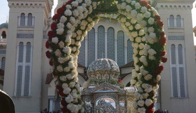 Στιγμιότυπο από τις εορταστικές εκδηλώσεις για τον εορτασμό του Πολιούχου της Πάτρας, Αποστόλου Ανδρέα