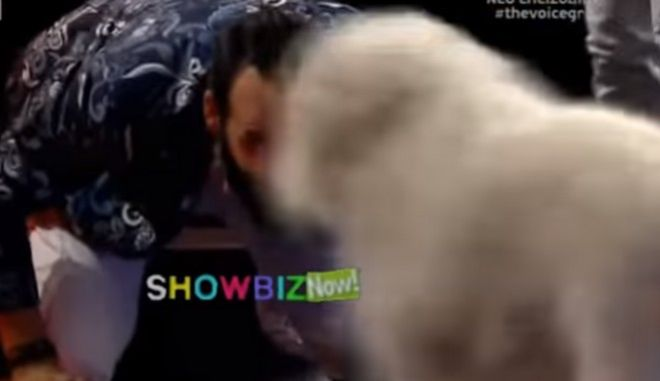 The Voice: Σκύλος εισέβαλε στη σκηνή για να... 'φάει' τον Μουζουράκη