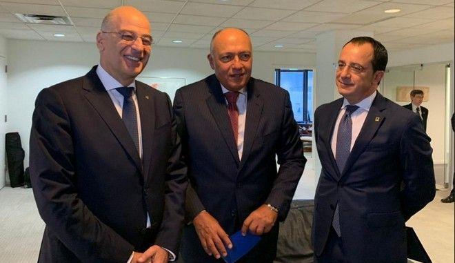 Τριμερής Ελλάδας-Κύπρου-Αιγύπτου: Μήνυμα στην Άγκυρα για Κυπριακό και γεωτρήσεις