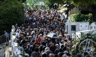 Κηδεία του συνθέτη και τραγουδιστή Λαυρέντη Μαχαιρίτσα.