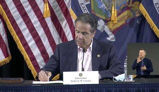 Ο κυβερνήτης της Νέας Υόρκης Άντριου Κουόμο