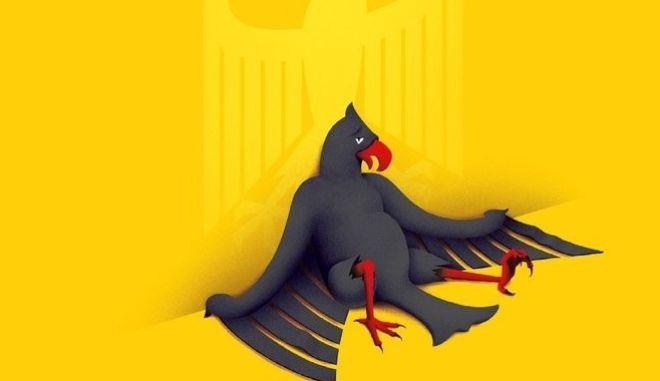 Εκλογές Γερμανίας: Το επιβλητικό εξώφυλλο του Economist με τον γερμανικό αετό που κατακεραυνώνει τη Μέρκελ