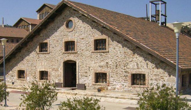 Κτίριο στο Τεχνολογικό Πολιτιστικό Πάρκο Λαυρίου, στα πρώην μεταλλεία