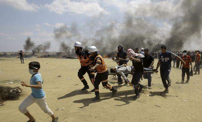 Διαμαρτυρίες Παλαιστινίων για τη μεταφορά της αμερικάνικης πρεσβείας από το Τελ Αβίβ στην Ιερουσαλήμ
