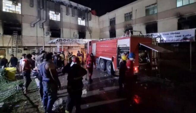 Ιράκ: Τουλάχιστον 82 νεκροί από τη φωτιά σε νοσοκομείο  όπου νοσηλεύονταν ασθενείς με covid-19