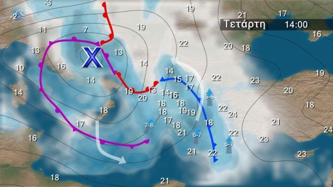 Καιρός: Έρχονται πολλές βροχές από Τρίτη