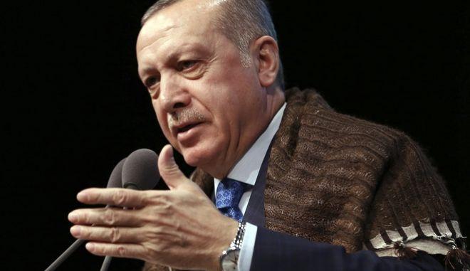 Ο Πρόεδρος της τουρκικής Δημοκρατίας Ρετζέπ Ταγίπ Ερντογάν (Kayhan Ozer/Pool Photo via AP)