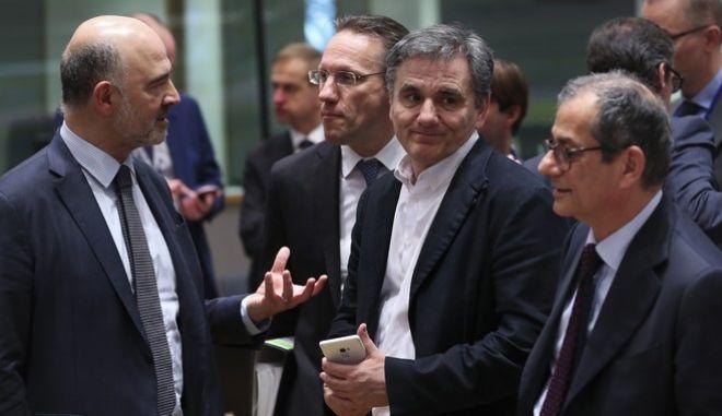 Στιγμιότυπο από τη συνεδρίαση του Eurogroup