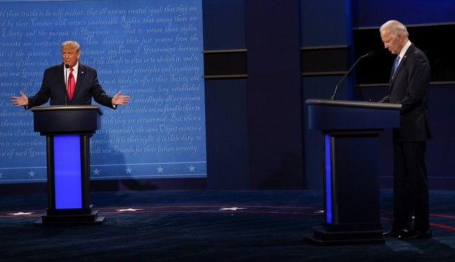 Τζο Μπάιντεν και Ντόναλντ Τραμπ στο δεύτερο debate τους λίγο πριν τις Αμερικανικές εκλογές