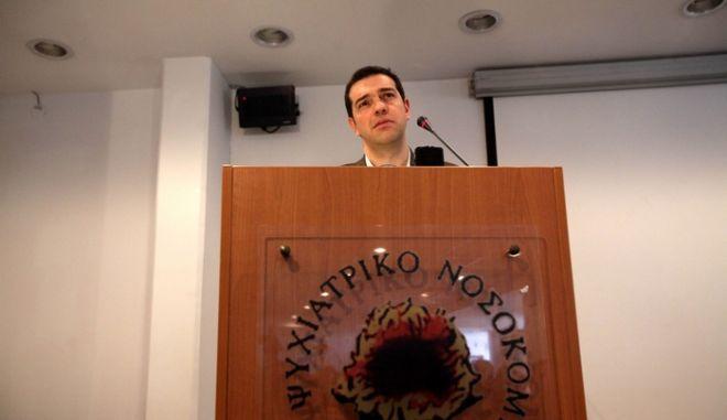 Το Ψυχιατρικό Νοσοκομείο Αθηννών επισκέφθηκε την Παρασκευή 12 Απριλίου 2013, ο πρόεδρος της ΚΟ του ΣΥΡΙΖΑ/ΕΚΜ Αλέξης Τσίπρας. (EUROKINISSI/ΓΕΩΡΓΙΑ ΠΑΝΑΓΟΠΟΥΛΟΥ)
