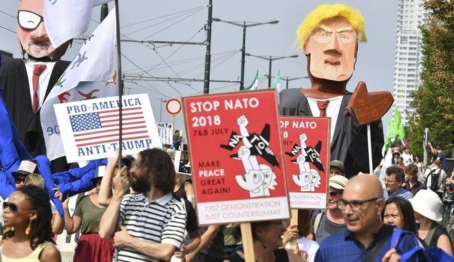 Πορεία κατά του Τραμπ στις Βρυξέλλες