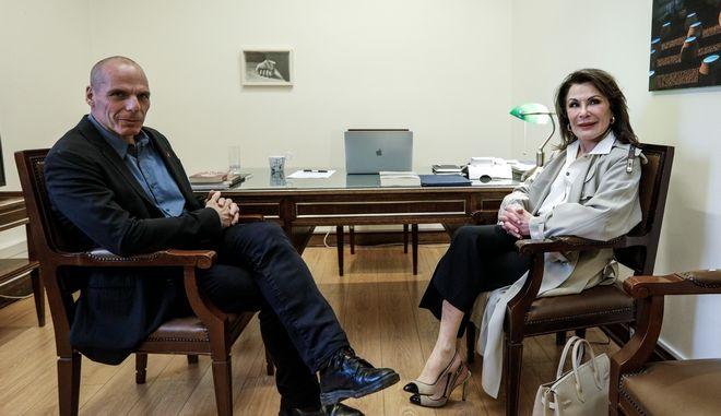 Συνάντηση Γιάνη Βαρουφάκη - Γιάννας Αγγελοπούλου
