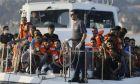 Πρόσφυγες - μετανάστες σε σκάφος του λιμενικού μετά από διάσωση στα νερά του Αιγαίου, Αρχείο