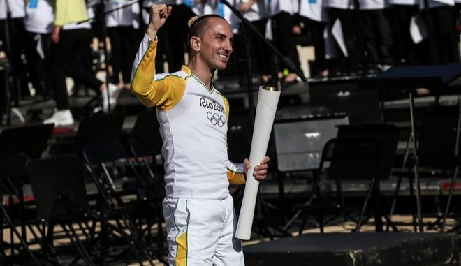 """The handover ceremony of the Olympic Flame for the XXXI summer Olympic games """"Rio 2016"""" in Athens on April 27, 2016 /    O   31          27 , 2016"""