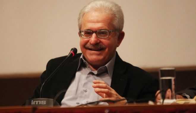 Ο Μίμης Ανδρουλάκης σε πρόσφατη παρουσίαση βιβλίου του