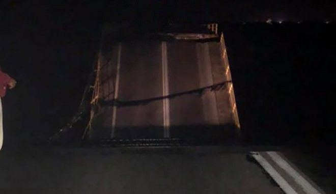 Κατέρρευσε γέφυρα στη Ρόδο