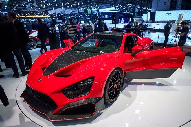 epa06585057 The new Zenvo TSR-S is presented during the press day at the 88th Geneva International Motor Show in Geneva, Switzerland, 06 March 2018. The Motor Show will open its gates to the public from 08 to 18 March presenting more than 180 exhibitors and more than 110 World and European premieres.  EPA/MARTIAL TREZZINI