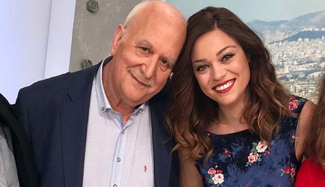 Η δημοσιογράφος Μπάγια Αντωνοπούλου και ο Γιώργος Παπαδάκης
