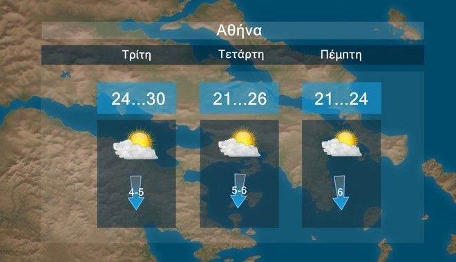 Καιρός: Βροχές, καταιγίδες και πτώση της θερμοκρασίας από Τρίτη