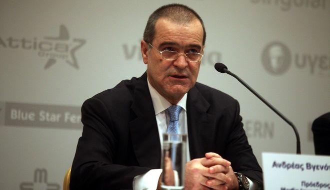 ΑΘΗΝΑ-Ο πρόεδρος του Ομίλου Marfin Investment Group (MIG) Ανδρέας Βγενόπουλος παραχωρεί συνέντευξη τύπου με θέμα: «Προσφυγή της Marfin Investment Group σε διεθνές Διαιτητικό Δικαστήριο κατά της Κυπριακής Δημοκρατίας για την προστασία της επένδυσής της στη Λαϊκή Τράπεζα», σήμερα Τετάρτη 23 Ιανουαρίου 2013. (EUROKINISSI)