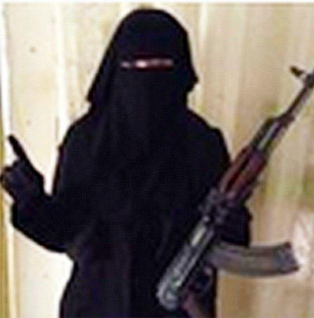 Profile photo on Twitter of Junaid Hussain's wife Umm Hussain AlBrittani