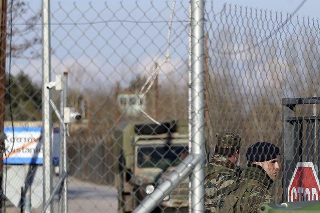 Έλληνες στρατιώτες στις Καστανιές