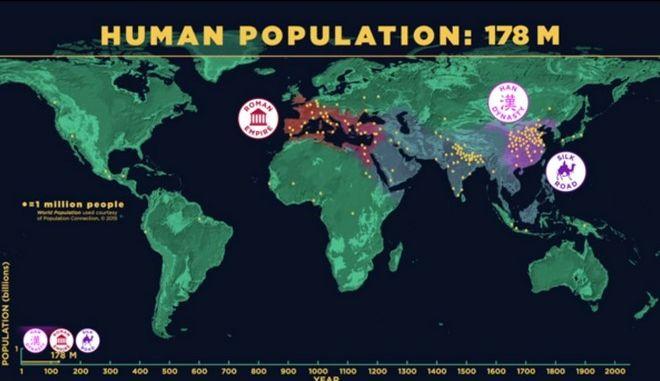 Βίντεο: Η αύξηση του παγκόσμιου πληθυσμού ανά τους αιώνες