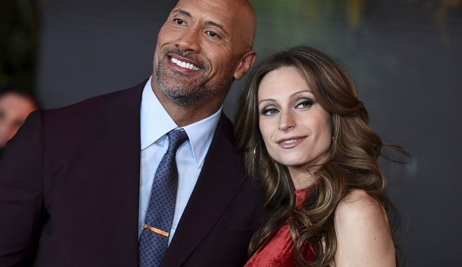 Lauren Hashian και Dwayne Johnson