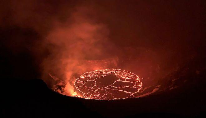 Η συνεχιζόμενη έκρηξη του ηφαιστείου Κιλαουέλα της Χαβάης, 28 Δεκεμβρίου 2020.