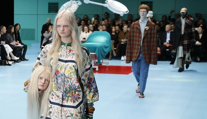 Κομμένα κεφάλια σε πασαρέλα στο Milan Fashion Week