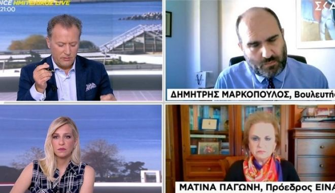 """Καυγάς Μαρκόπουλου - Παγώνη: """"Χάνεται η αξία του λόγου μέσα από τη lifestyle προσέγγιση"""""""