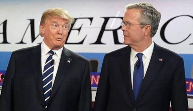 Ο Τραμπ για Μπους: 'Μην κοιτάτε εμένα. Δεν ξέρω τι τον έπιασε και αποσύρθηκε'