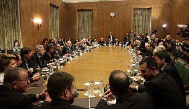 Συνεδρίαση του υπουργικού συμβουλίου στην Βουλή την Κυριακή 6 Νοεμβρίου 2016. (EUROKINISSI/ΓΙΑΝΝΗΣ ΠΑΝΑΓΟΠΟΥΛΟΣ)