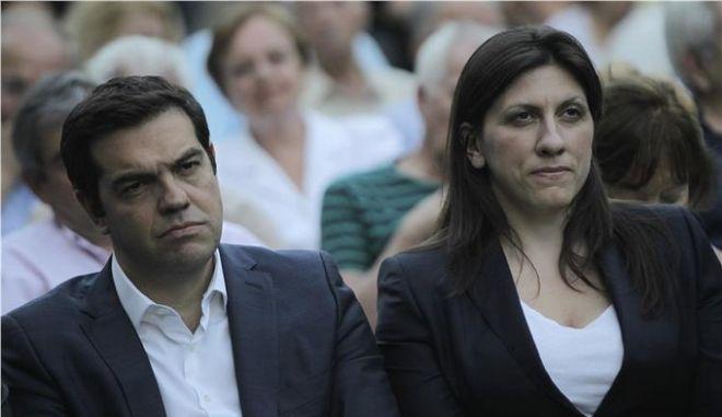Τσίπρας και Κωνσταντοπούλου στο χώρο βασανιστηρίων του ΕΑΤ-ΕΣΑ με λίγα χαμόγελα και 'θεσμική δυσαρμονία'