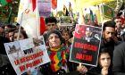 Από διαδήλωση Κούρδων