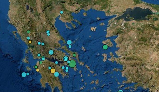 Σεισμός 3,7 ρίχτερ βόρεια της Αθήνας