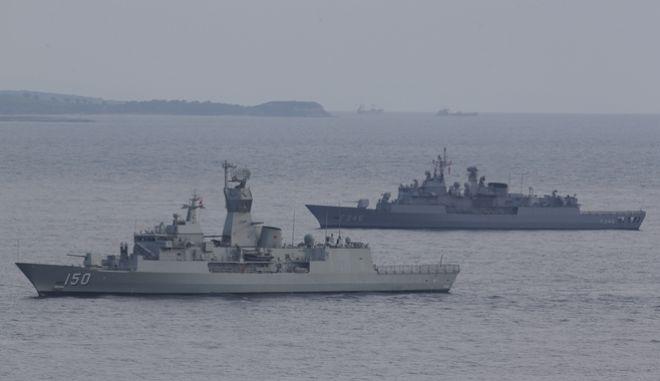 Τουρκικά πολεμικά πλοία - Φωτό αρχείου