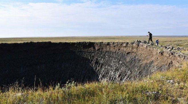 Ο κρατήρας που ανακαλύφθηκε τον Αύγουστο του 2020 στη Σιβηρία
