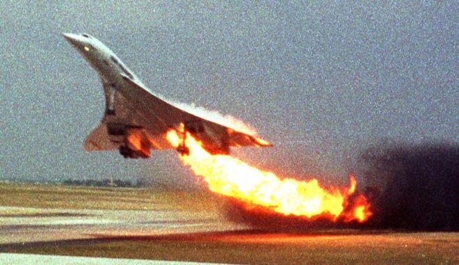 Το φλεγόμενο Concorde της Air France