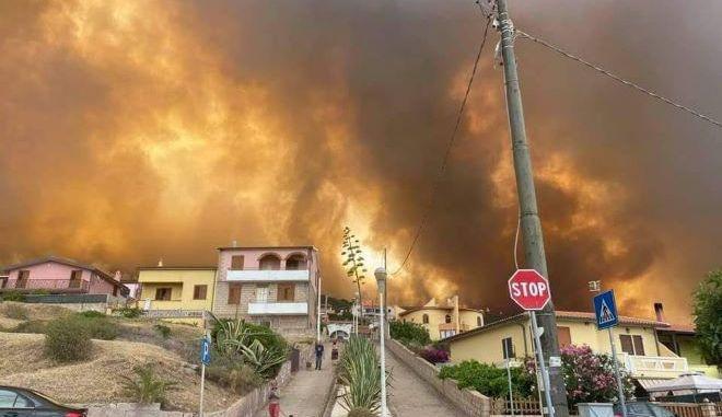 Φωτιά στην Σαρδηνία