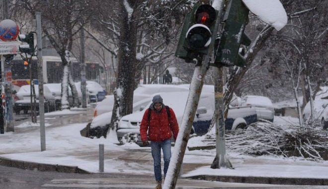 Χιόνια στη Θεσσαλονίκη (ΦΩΤΟ ΑΡΧΕΙΟΥ)