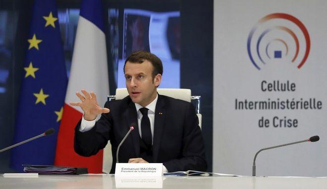 Ο πρόεδρος της Γαλλίας, Εμμανουέλ Μακρόν