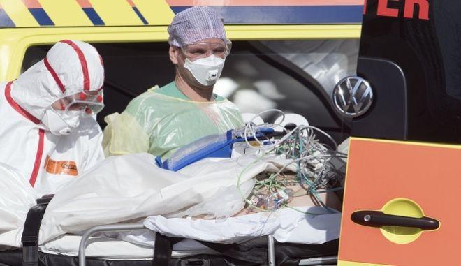 Ασθενής σε νοσοκομείο της Λειψίας