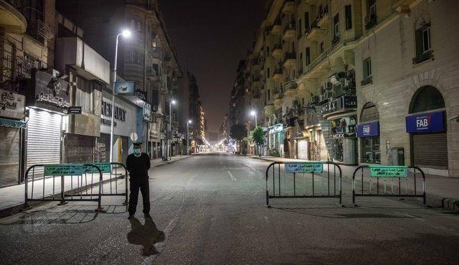 Εικόνα από το Κάιρο σε καιρό κορονοϊού