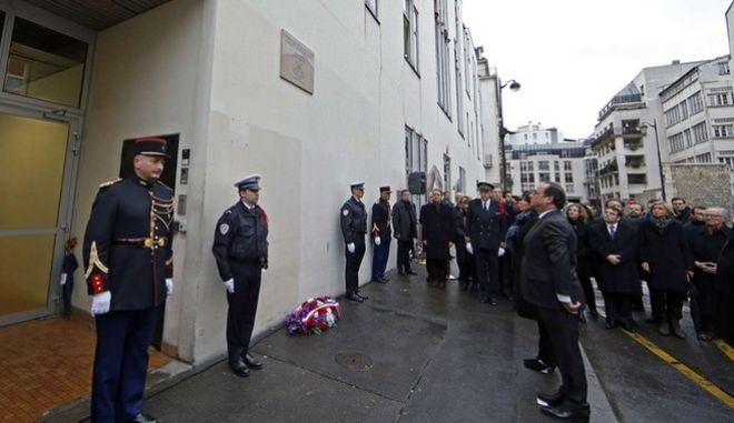 Εκδηλώσεις μνήμης για τα θύματα της επίθεσης στο Charlie Hebdo στο Παρίσι